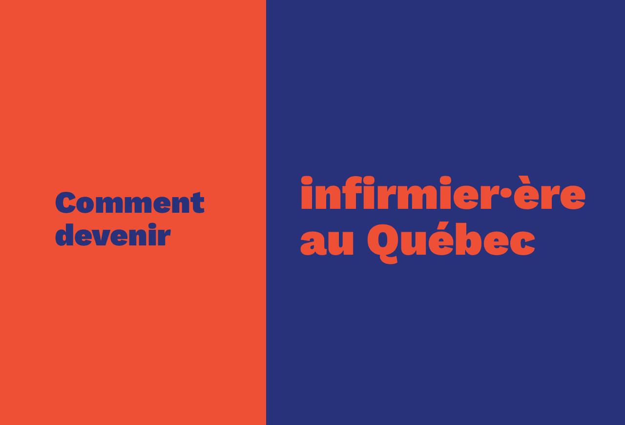 Comment devenir infirmière au Québec