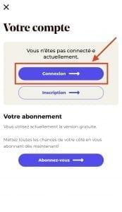 Aide - connexion