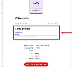 Comment utiliser code promo